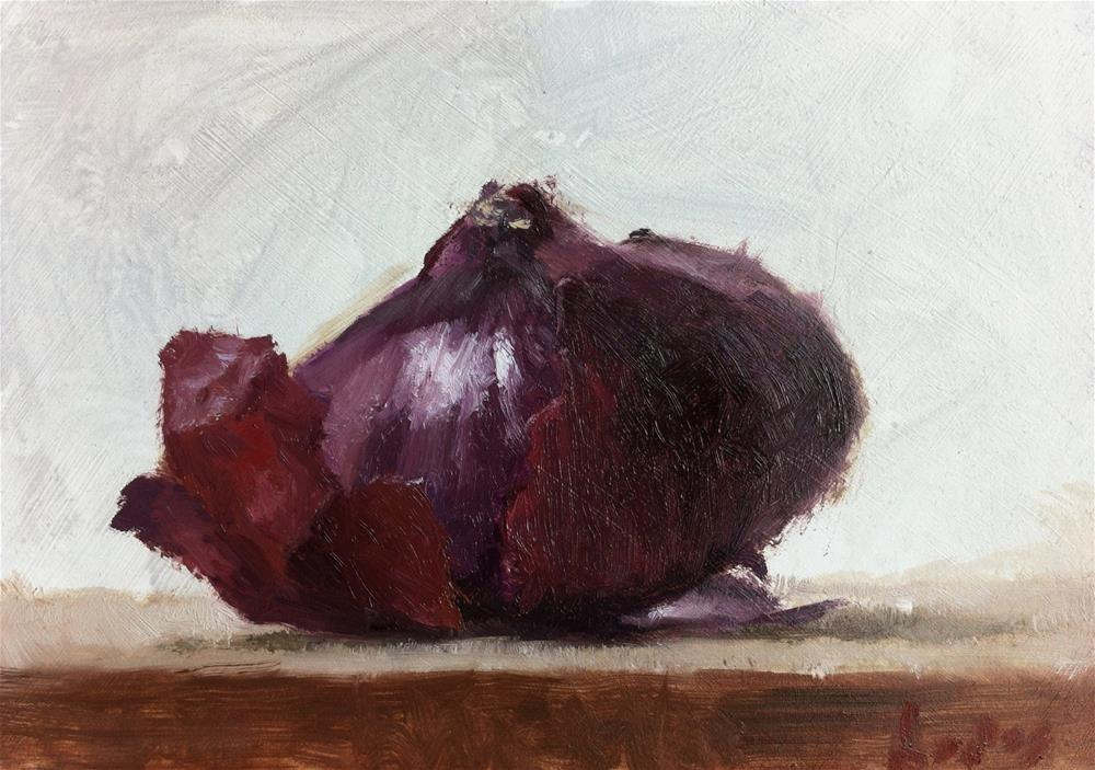 """Red Onion Peeled"" original fine art by Richard Jones"
