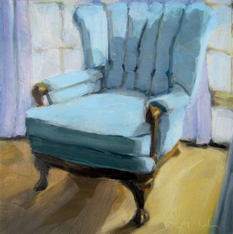 """The Chair Challenge"" original fine art by Robin Rosenthal"