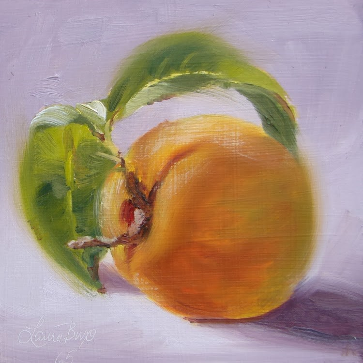 """Peachy - 65"" original fine art by Laura  Buxo"