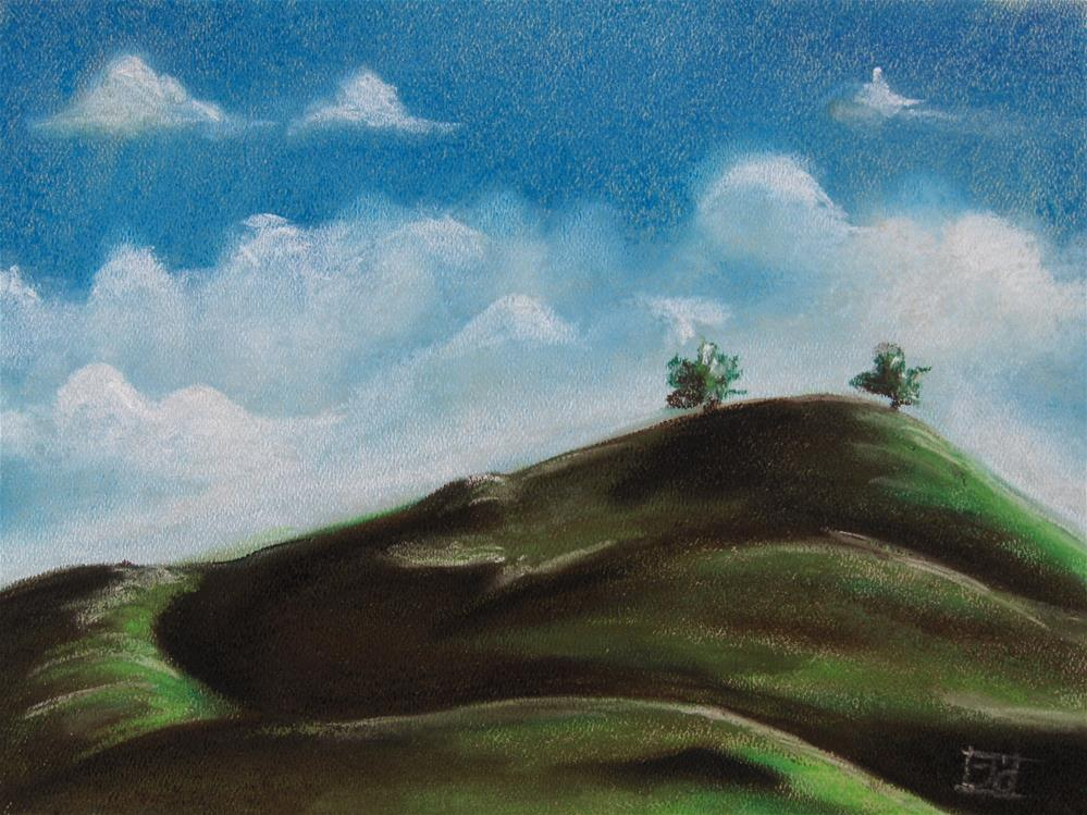 """Two Trees"" original fine art by Arron McGuire"