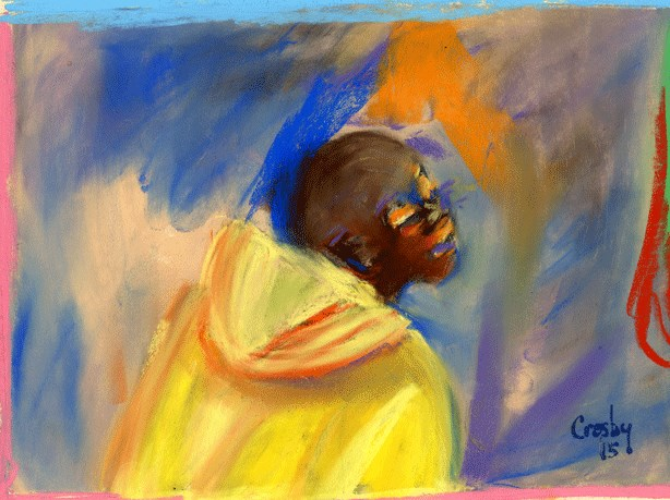 """Fresh Sea Air"" original fine art by Donna Crosby"