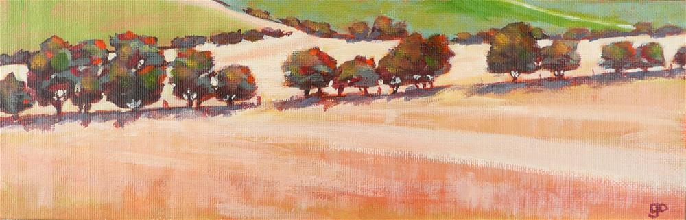 """Mallee Trees"" original fine art by Leanne Owen"