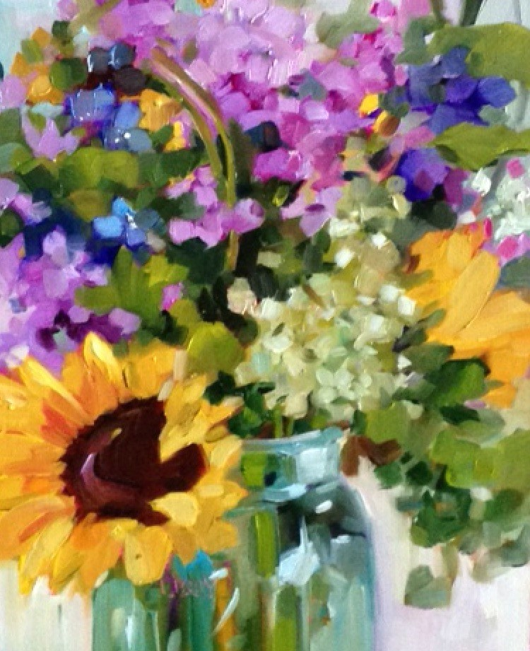 """""""EXPRESS FLORAL"""" original fine art by Libby Anderson"""