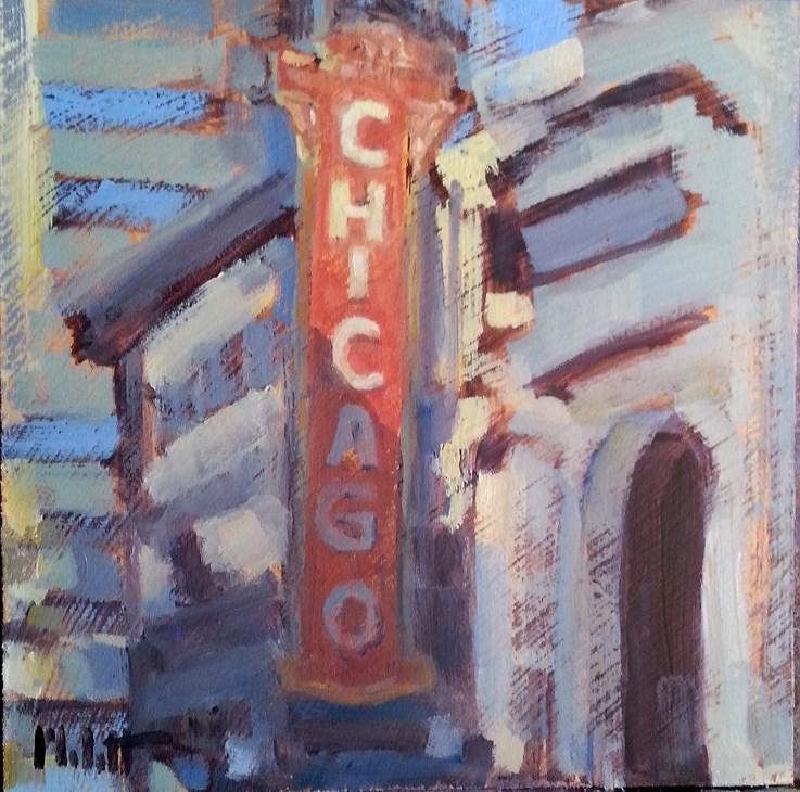 """Chicago Theater Original Oil Painting Heidi Malott"" original fine art by Heidi Malott"