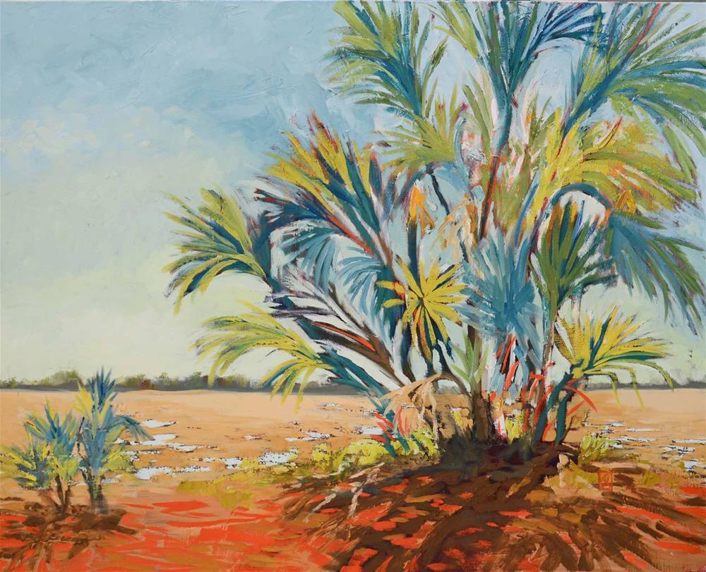 """Marsh Edge"" original fine art by Lucinda Howe"
