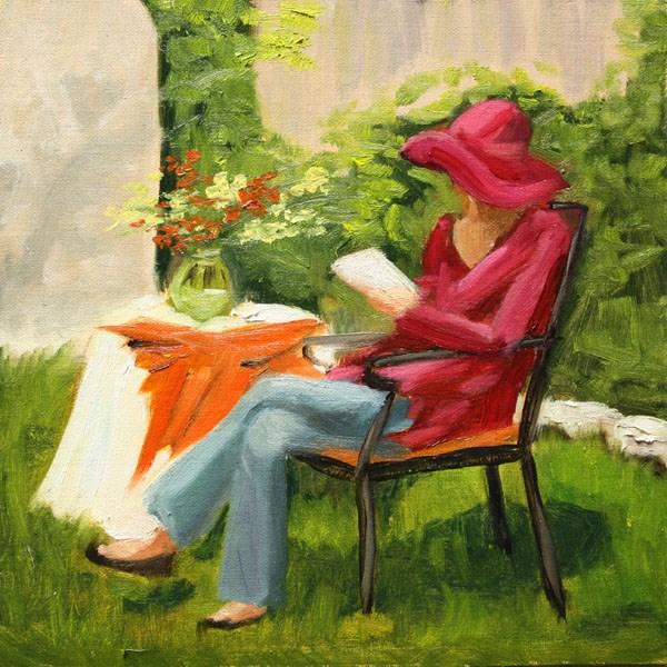 """""""Garden Retreat"""" original fine art by Jane Frederick"""
