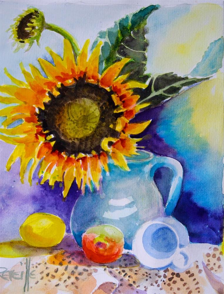 """The Biggest Sunflower"" original fine art by Reveille Kennedy"