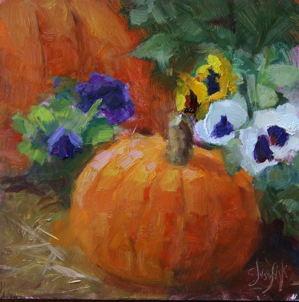 """Happy October"" original fine art by Carol Josefiak"