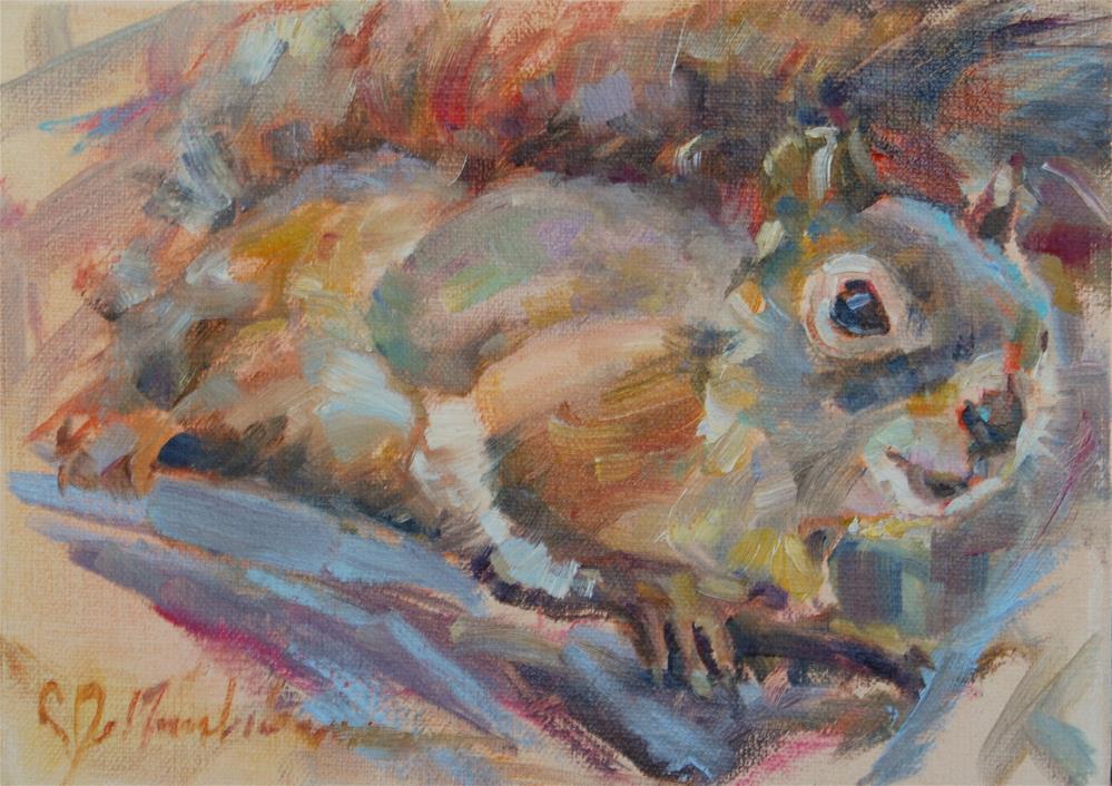 """""""A Little Squirrelly"""" original fine art by Carol DeMumbrum"""