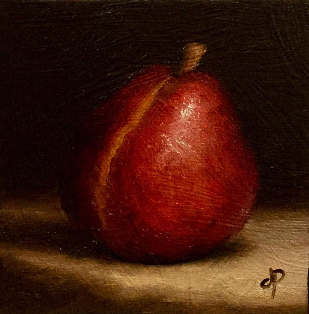 """Little Red Anjou Pear"" original fine art by Jane Palmer"
