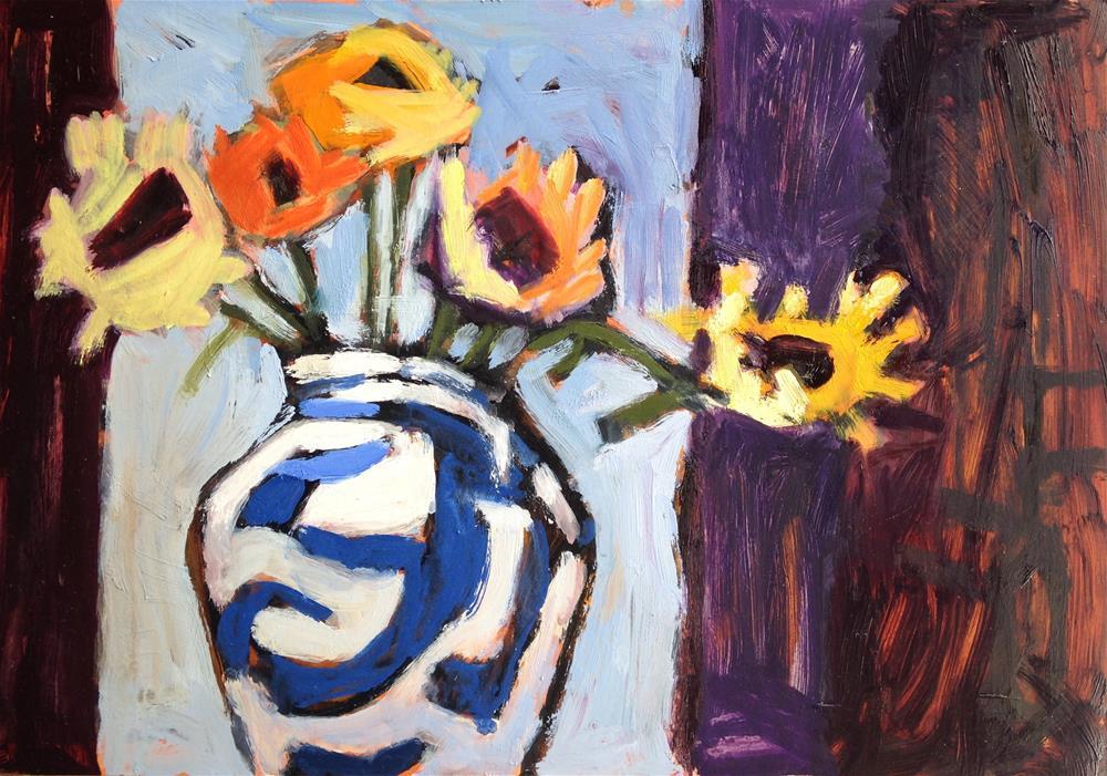 """Two Darks and a Light"" original fine art by Pamela Hoffmeister"