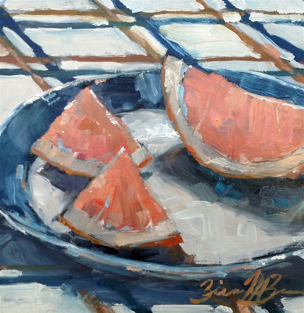 """""""Summer Slices"""" original fine art by Brienne M Brown"""