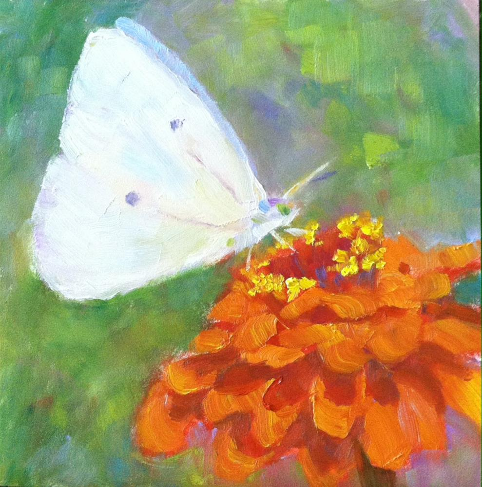 """""""Butterfly Breakfast"""" original fine art by Katharine March"""
