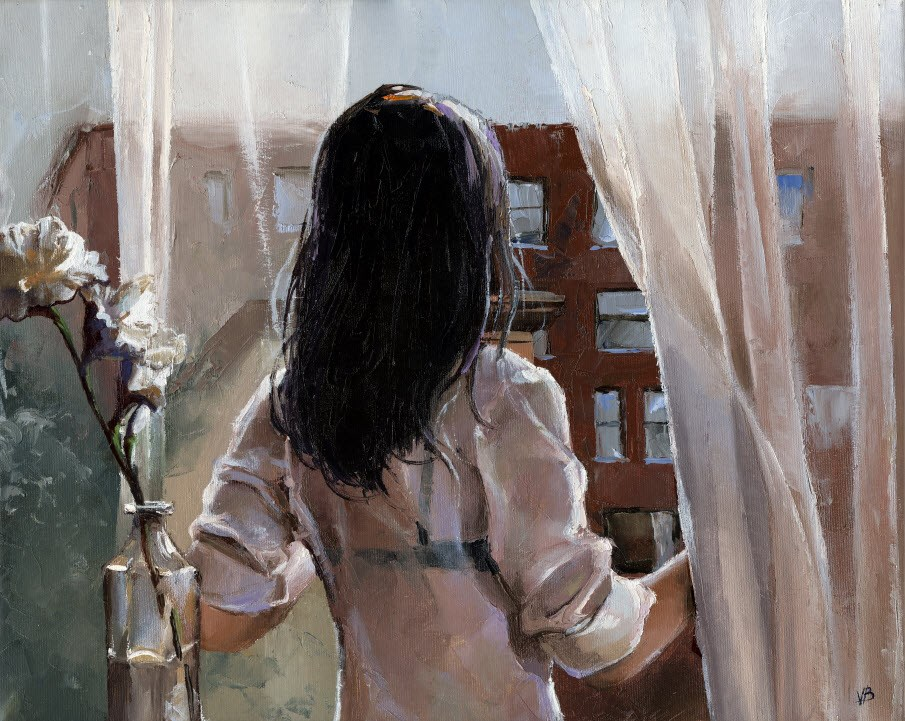 """SOHO Loft- VI"" original fine art by Victor Bauer"