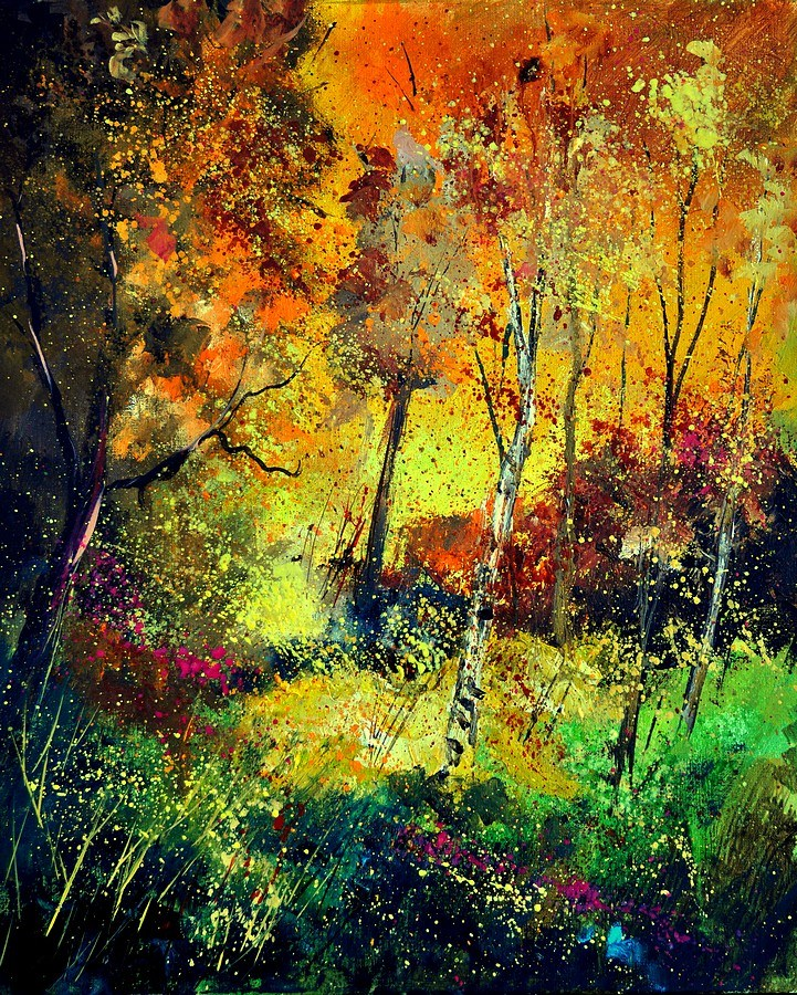 """Burning autum"" original fine art by Pol Ledent"