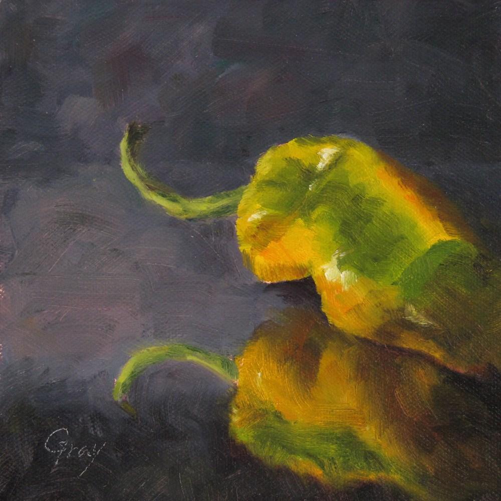 """Pepper in Black No.2"" original fine art by Naomi Gray"