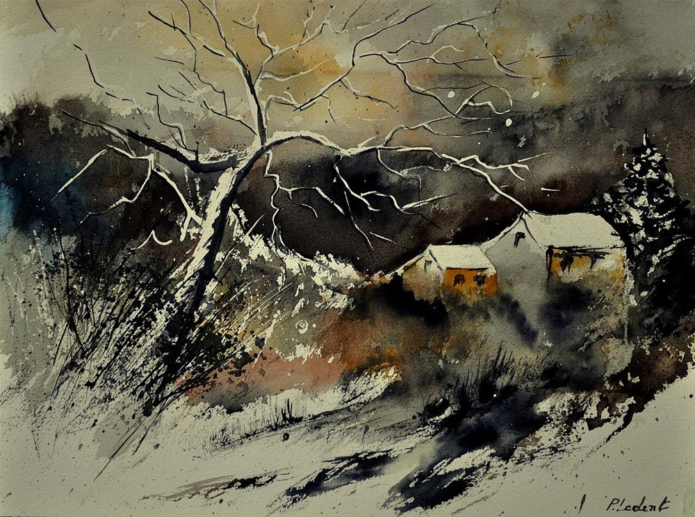 """watercolor 210181"" original fine art by Pol Ledent"