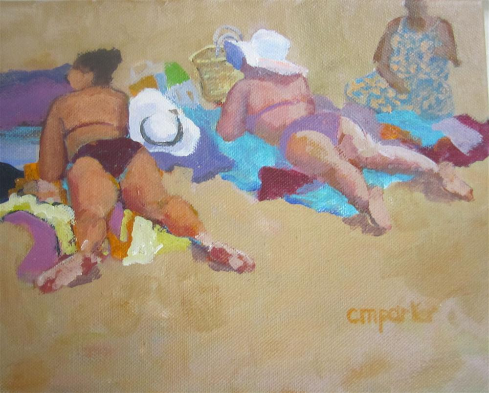 """Oh Those Ladies"" original fine art by Christine Parker"