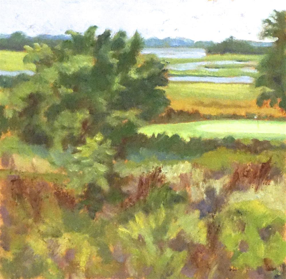 """Practice Green at The Briars Club"" original fine art by Judy Elias"