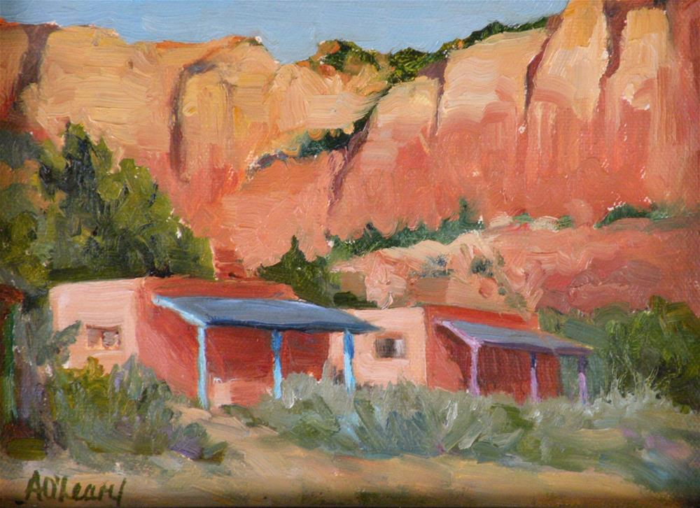 """Ghost Ranch Casitas"" original fine art by Alice O'Leary"