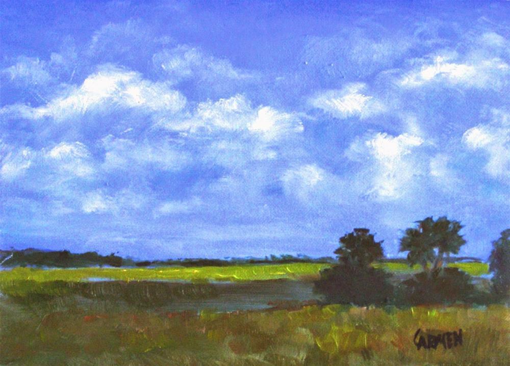 """Florida Vista, 8x6 Oil Painting on Canvas Panel"" original fine art by Carmen Beecher"