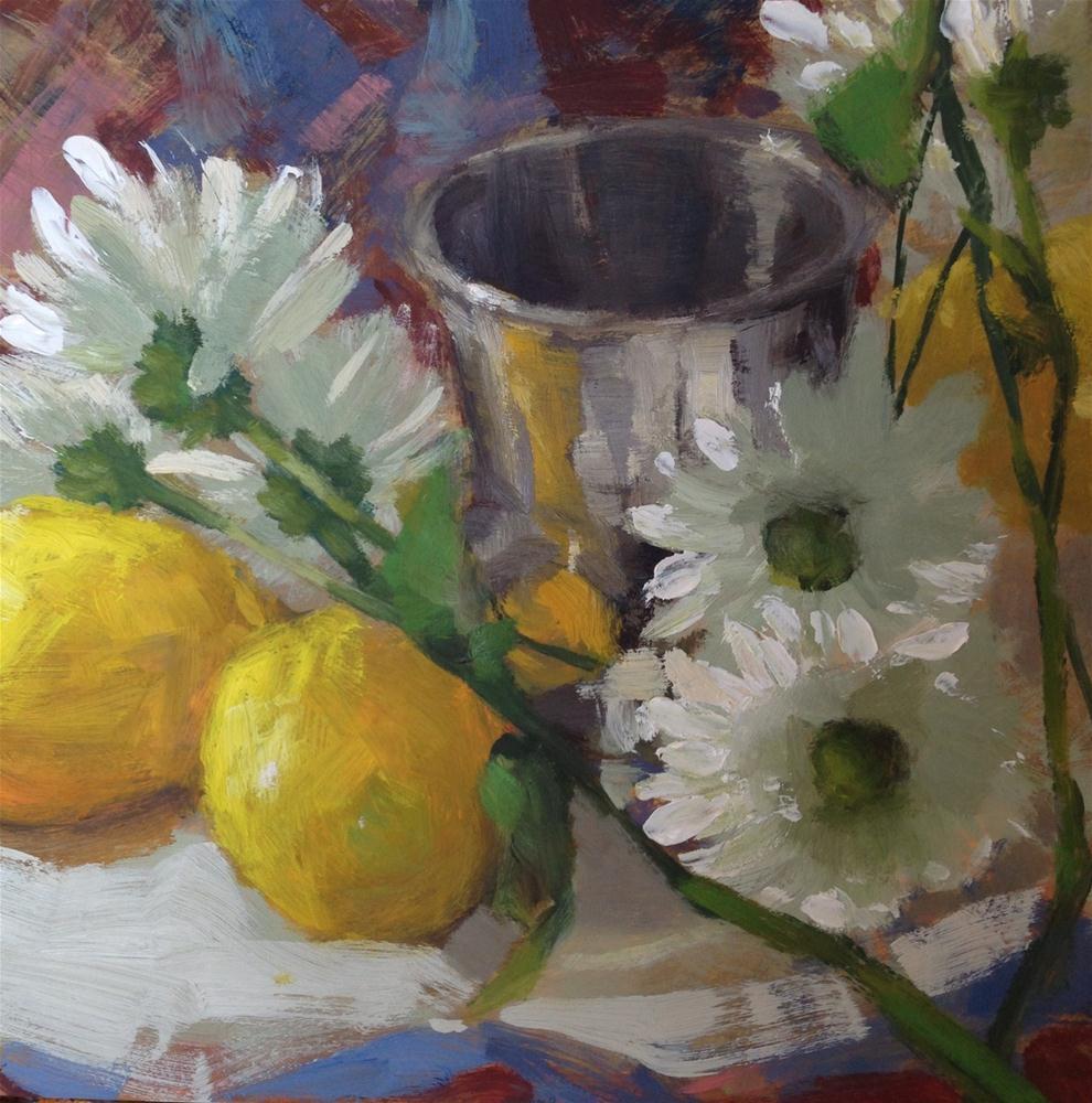 """Daisies"" original fine art by Krista Eaton"
