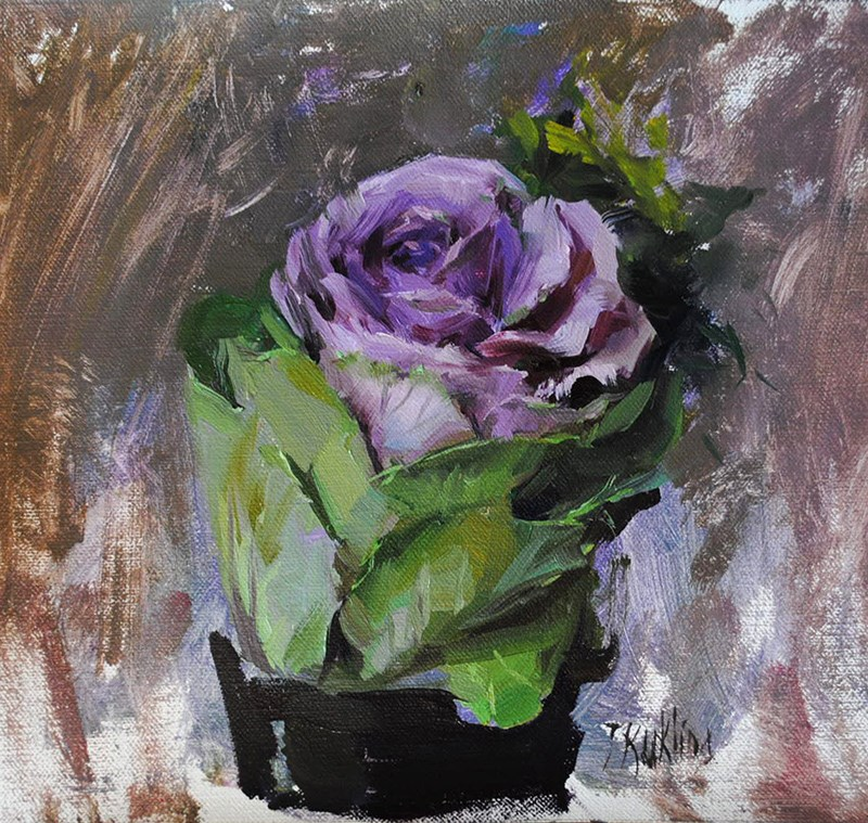 """ornamental cabbage"" original fine art by Taisia Kuklina"