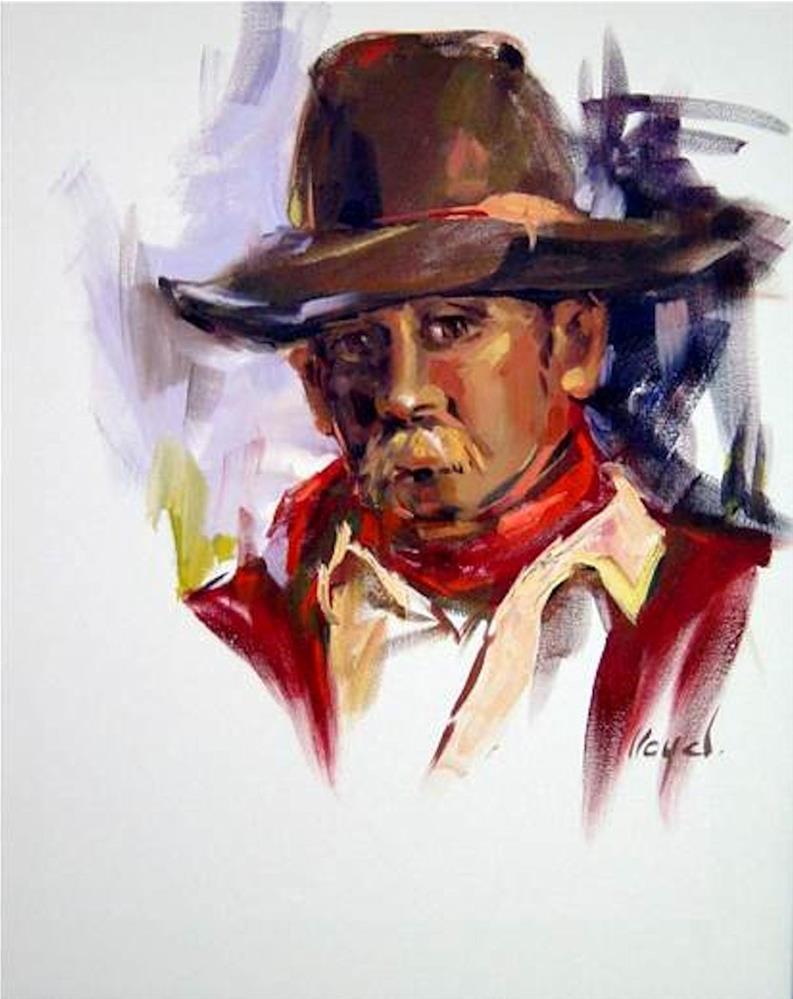 """""""Cowboy"""" original fine art by Diane Lloyd"""