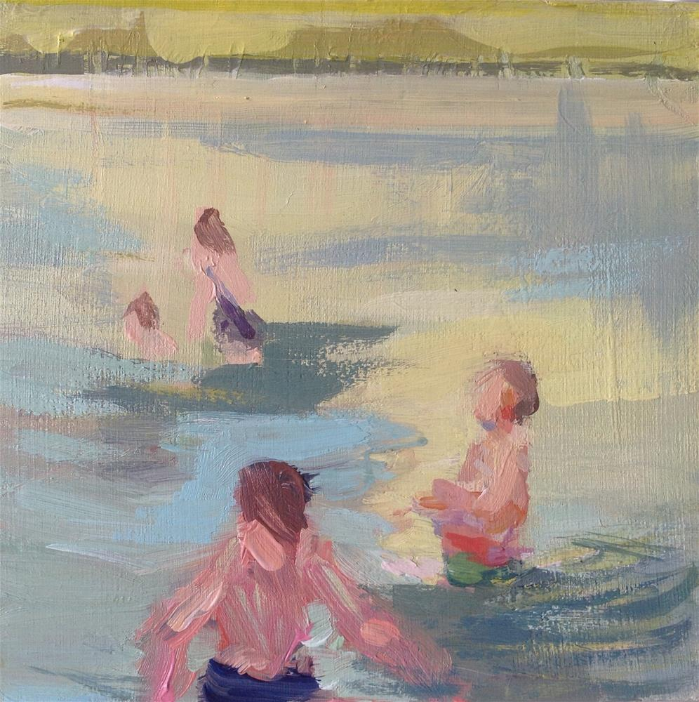 """Bathing lake"" original fine art by Christine Bayle"