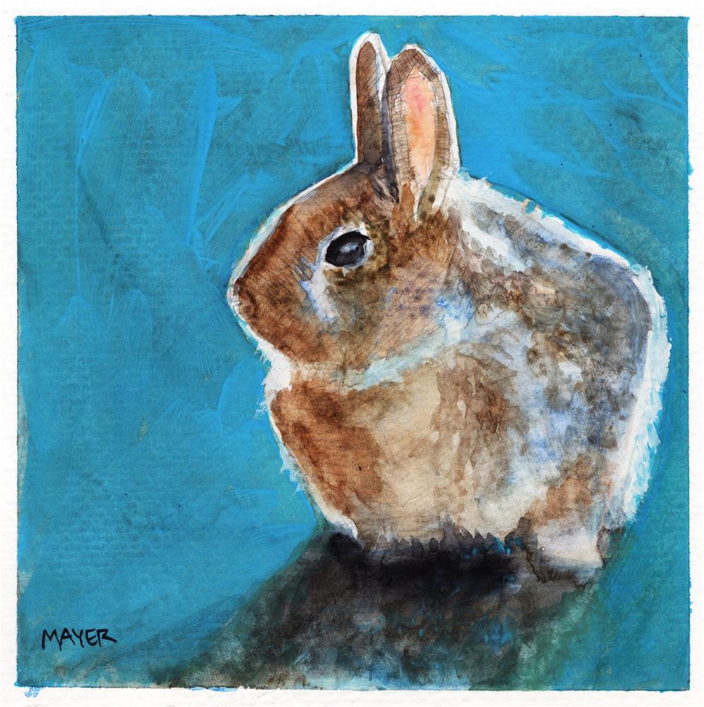 """Bunny"" original fine art by Margaret Mayer"