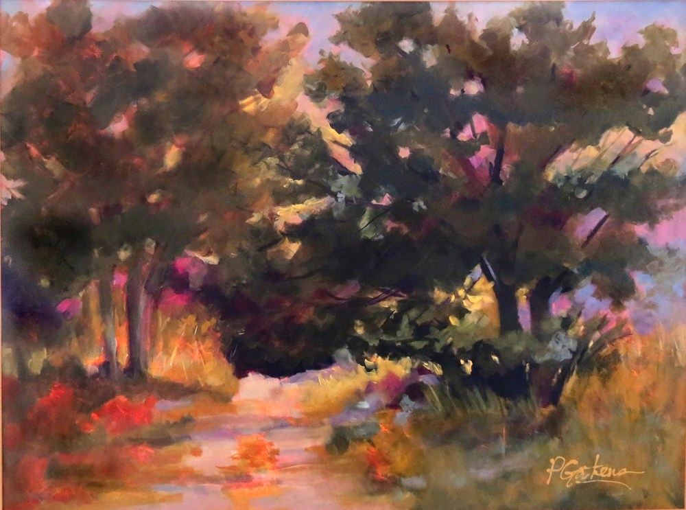 """Up River Trail"" original fine art by Pamela Gatens"