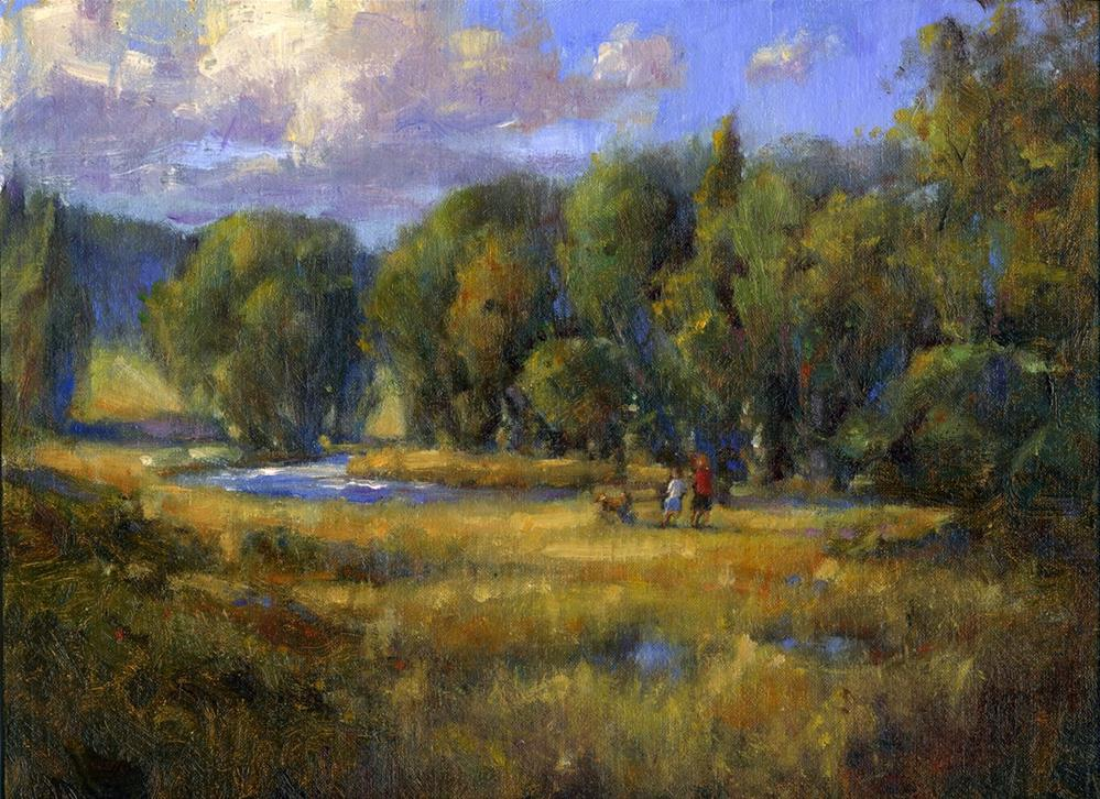 """Walking Through the Meadow"" original fine art by tony damico"