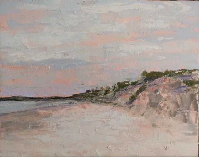 """Winter Beach"" original fine art by Carol Pighin"