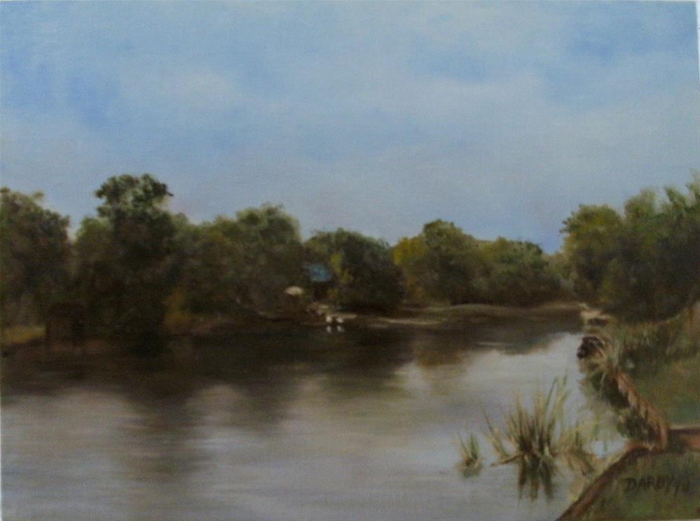 """Cane River Lake Again"" original fine art by Lynn Darby"