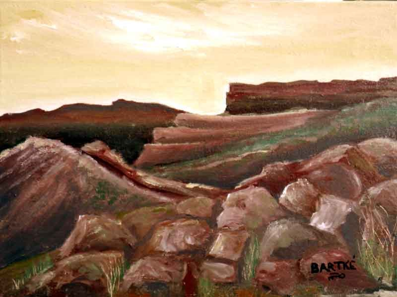 """Red Rocks"" original fine art by Janice Bartke Thompson"