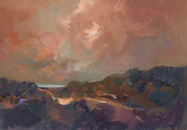 """Dune Track"" original fine art by Anne Wood"