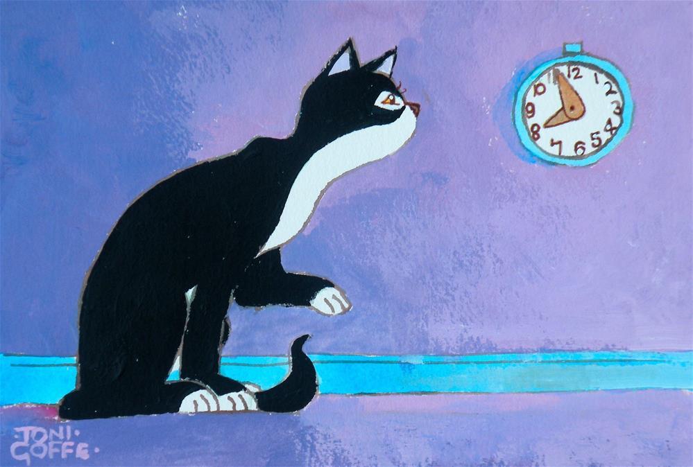 """Countdown to Breakfast"" original fine art by Toni Goffe"