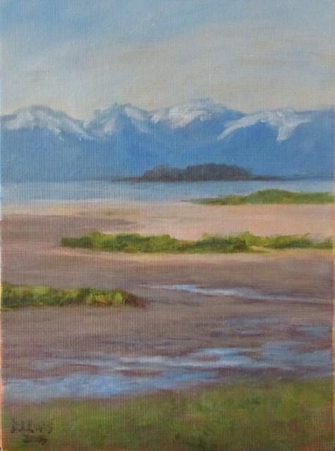 """Eagle Beach"" original fine art by Christine Lewis"