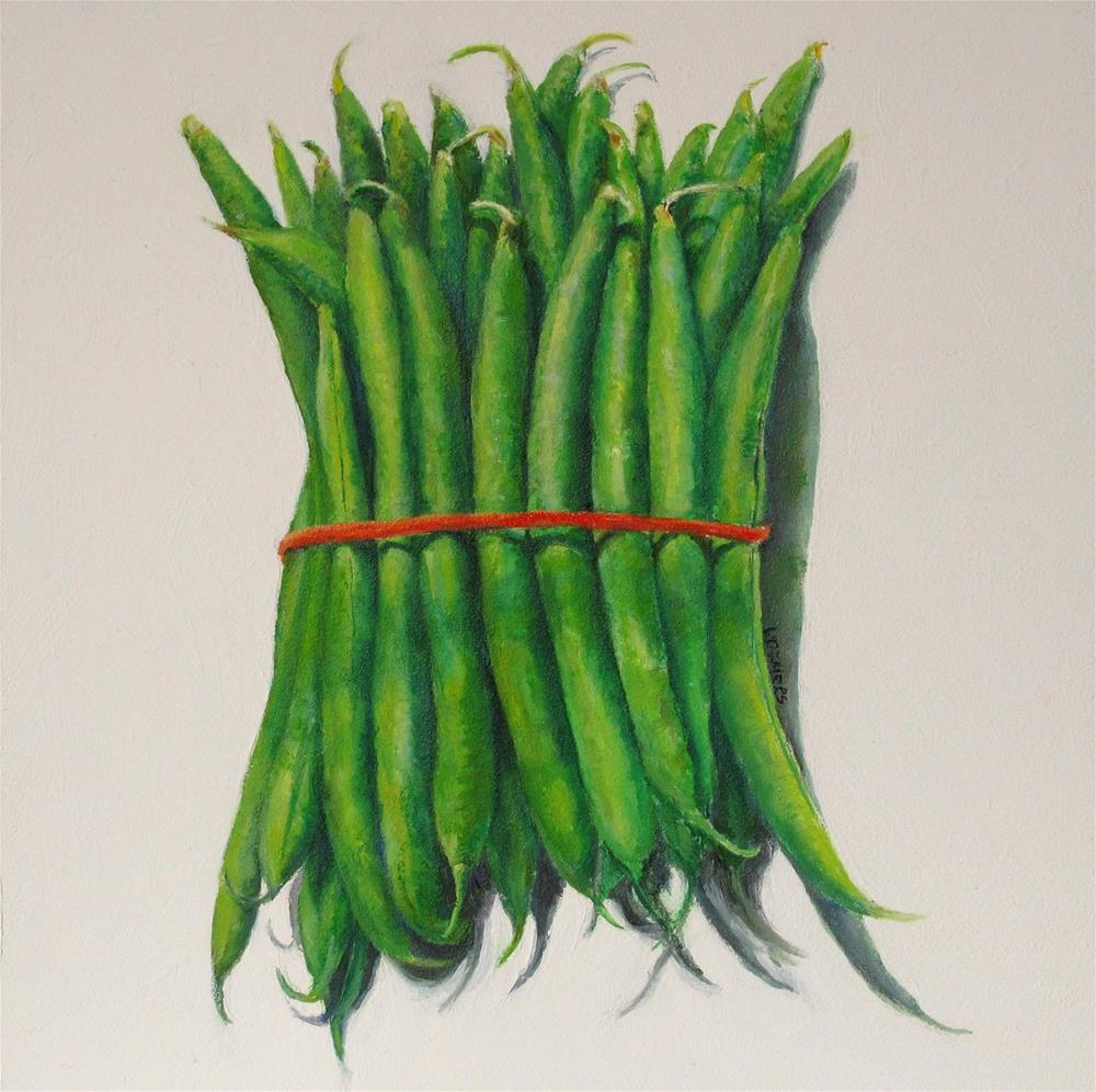 """Green Beans"" original fine art by Linda Demers"