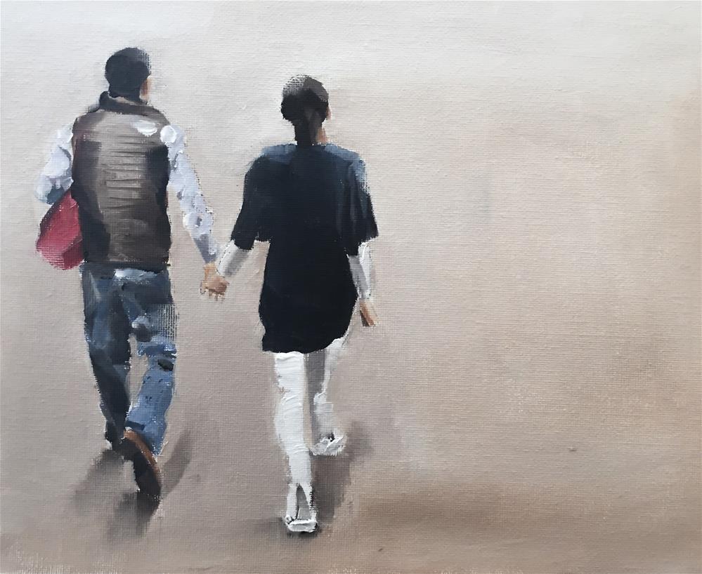"""""""A Walk Together"""" original fine art by James Coates"""