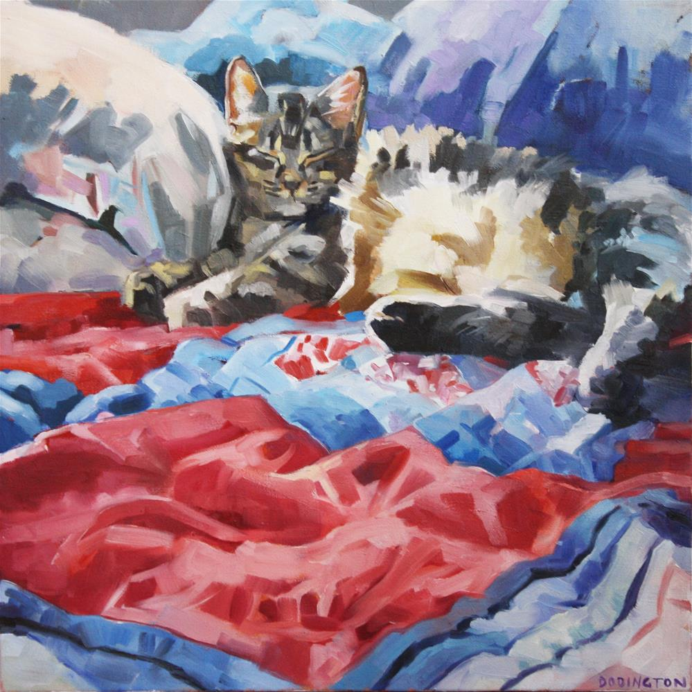 """""""Against Pillows"""" original fine art by Jessie Dodington"""