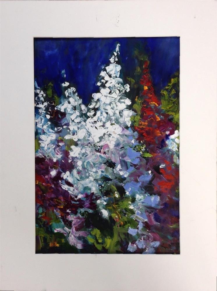 """""""Floral Drama"""" original fine art by Cathy Boyd"""