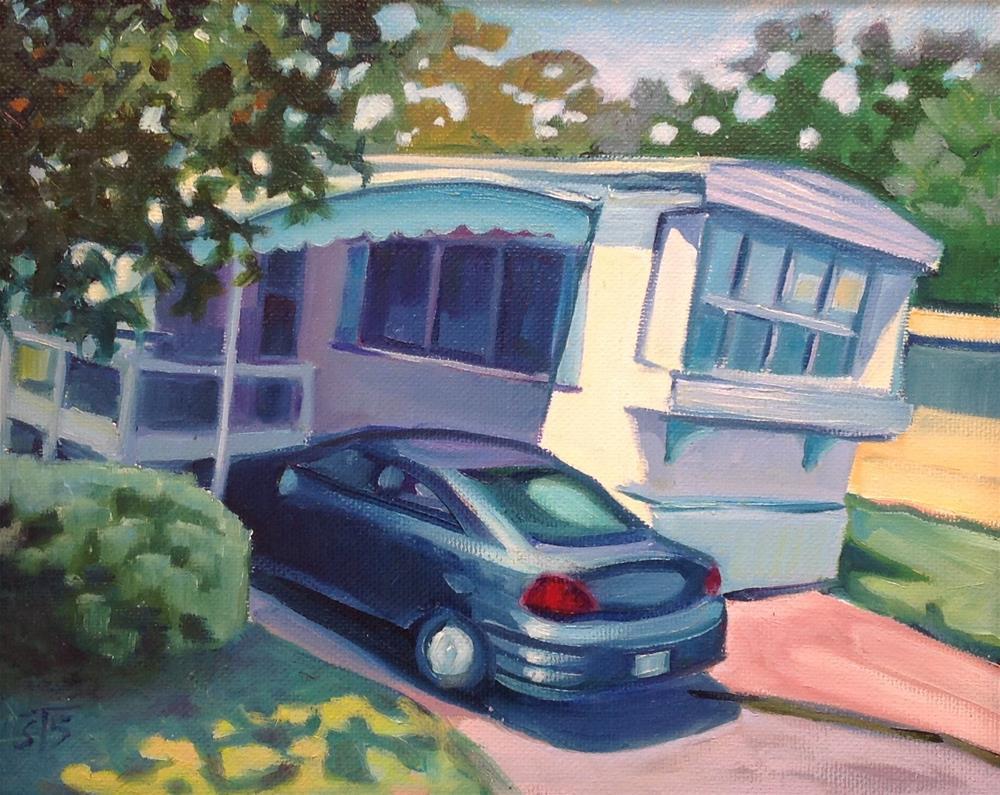 """""""Trailer and Sedan"""" original fine art by Susan Suraci"""
