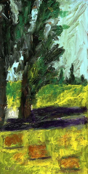 """Hay Harvest"" original fine art by Donna Crosby"