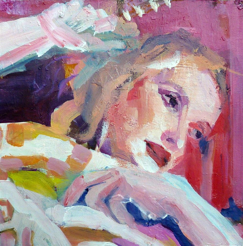 """Portrait hell und bunt /  portrait bright and colorful"" original fine art by Mila Plaickner"