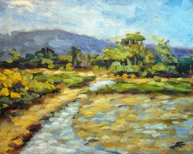 """The Marsh"" original fine art by J. Farnsworth"