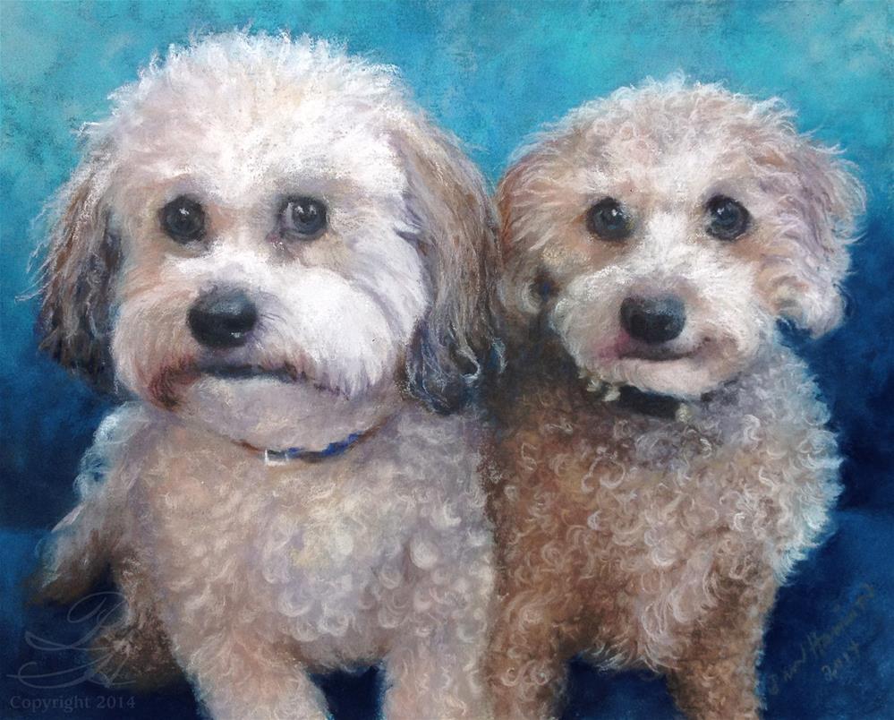 """Diesel & Zoey"" original fine art by Pamela Hamilton"
