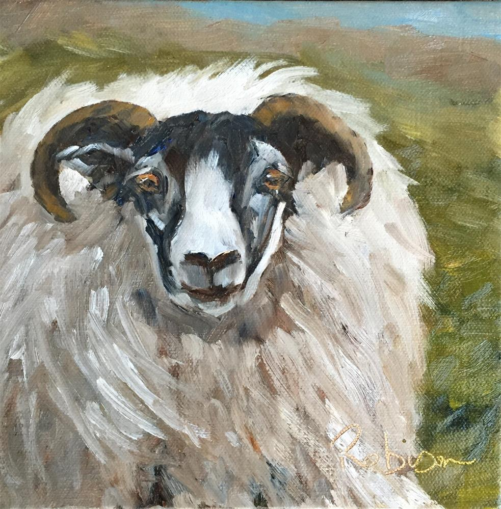 """Furry Ram"" original fine art by Renee Robison"