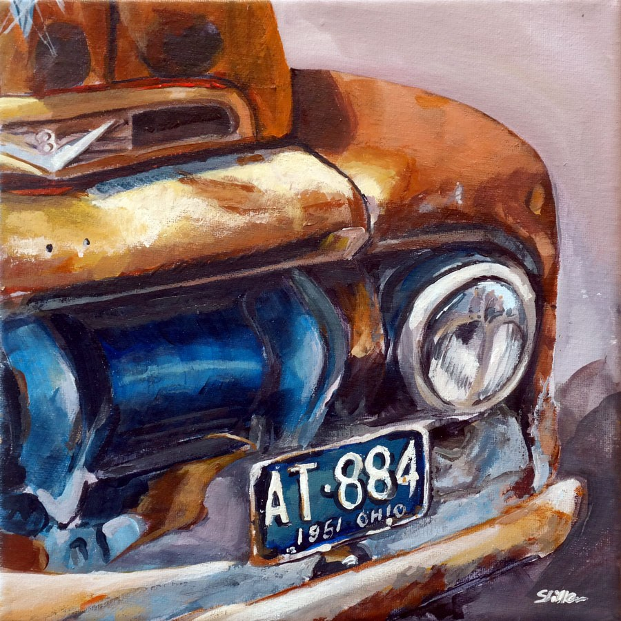 """1438 Ford Van"" original fine art by Dietmar Stiller"