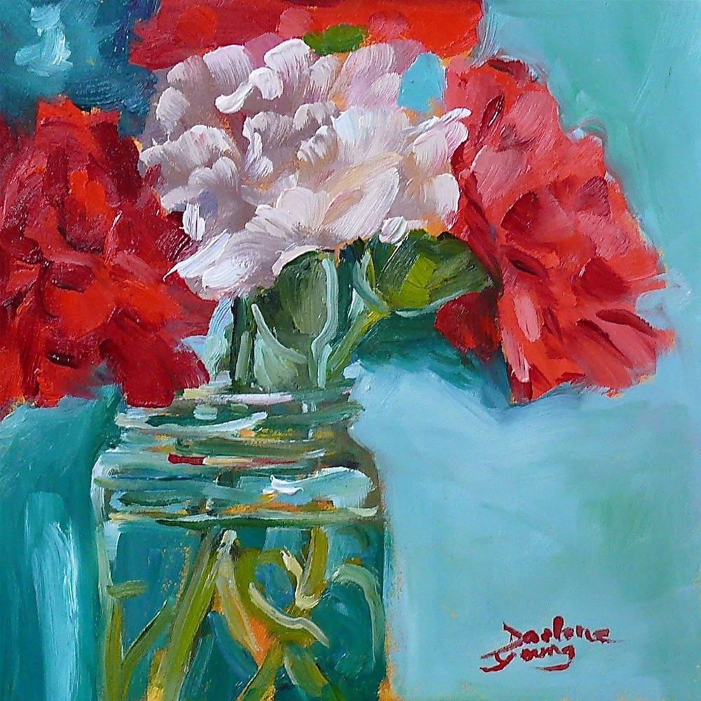 """Carnation Bouquet"" original fine art by Darlene Young"